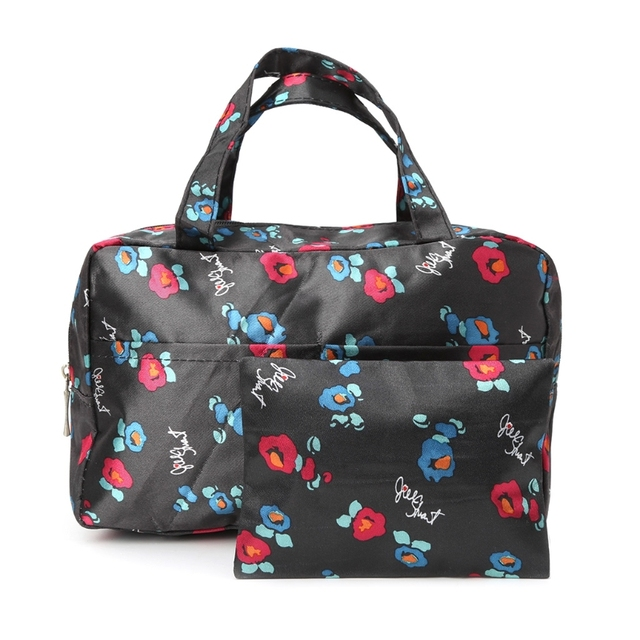 f90486365ed9 THINKTHENDO 2pcs/set Women Travel Cosmetic Bag Makeup Handbags Toiletry  Organizer Multifunction Flower Prints Polyester Bags-in Cosmetic Bags &  Cases ...