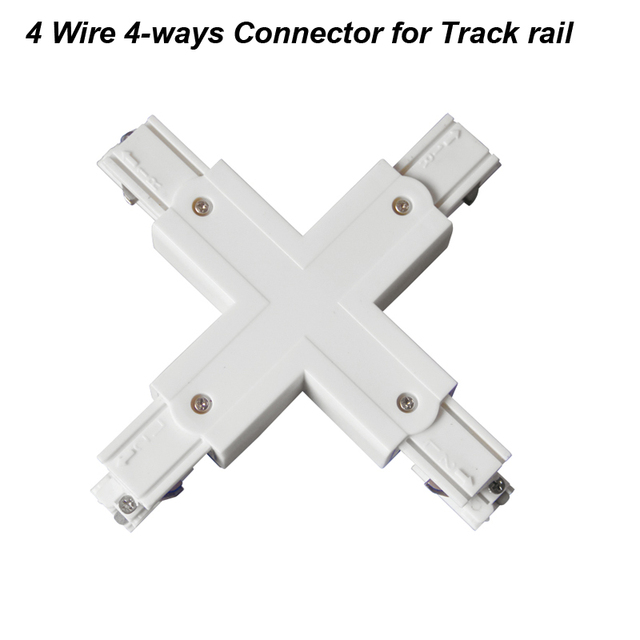 Fanlive 10pcs/lot 4 Wire Four Way Track Light Rail Connector Track ...