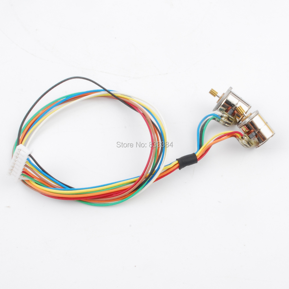 small resolution of 10pcs 1 5v 3v dc 42pcs wire 2 phase micro stepper motor with output vibrating motor