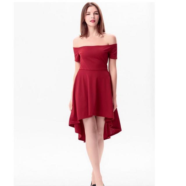 910e0e944 Novas senhoras da moda vestir vestidos sexy verão palavra collar pure color  emenda festa na praia