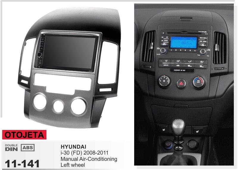 Convient pour hyundai i30 FD manuel ac 2008-2011 LHD aquad core android 8.1 cadre plus autoradio stéréo tête unités enregistreur gps