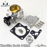 For 94 97 64mm Billet Throttle Body Mazda Miata NA 1.8L BP BP 4W Z3 Engine Silver