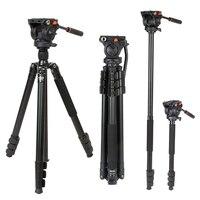 Коман KX3939 Профессиональный Алюминий Камера штатив 70 дюймов видео штатив с 360 жидкости головой для Nikon видеокамеры Canon DSLR Камера