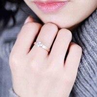 18KGP Rose White Gold Plated Titanium Steel CZ Diamond Ring Fashion Brand Jewelry For Women Men