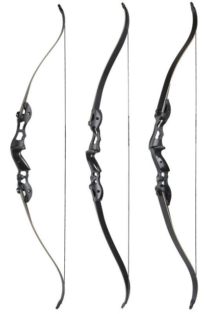 3 Color 30-50lbs Recurve Bow 56/58/60 Inches Hunting Bow with 17/19/21 inches Riser for Archery Hunting Shooting