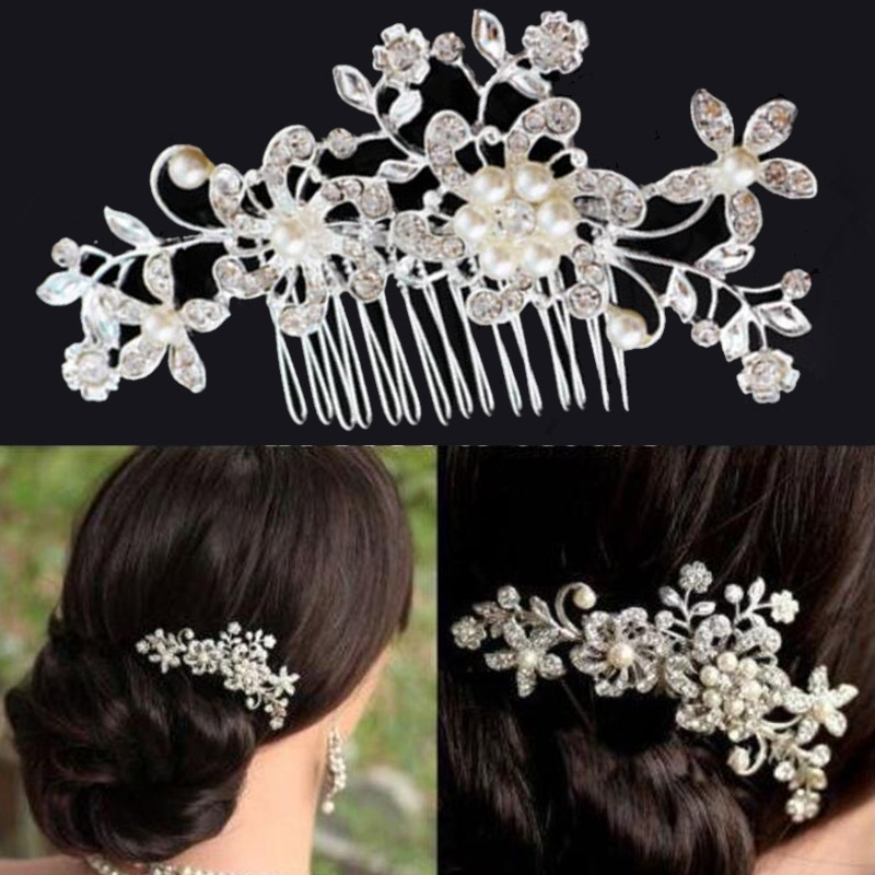 Bride Hair Comb Flower Headwear Rhinestone Women Jewelry Accessories Wedding New