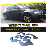 Car Styling PU Auto Side Mudguards Flare Fender Wheel Arch for BMW E92 M3 Bumper Only 2008 2012