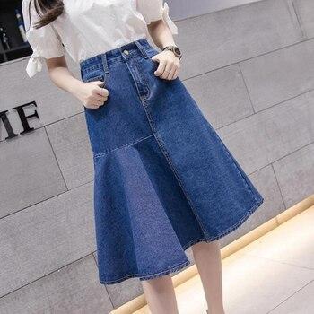 Fashion New high waist jeans skirts,women skirts denim skirts blue jean girls skirts Free shipping Y6008 фото
