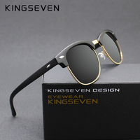 KINGSEVEN 2016 New Polarized Sunglasses Men Women Retro Rivet High Quality Polaroid Lens Brand Design Sun