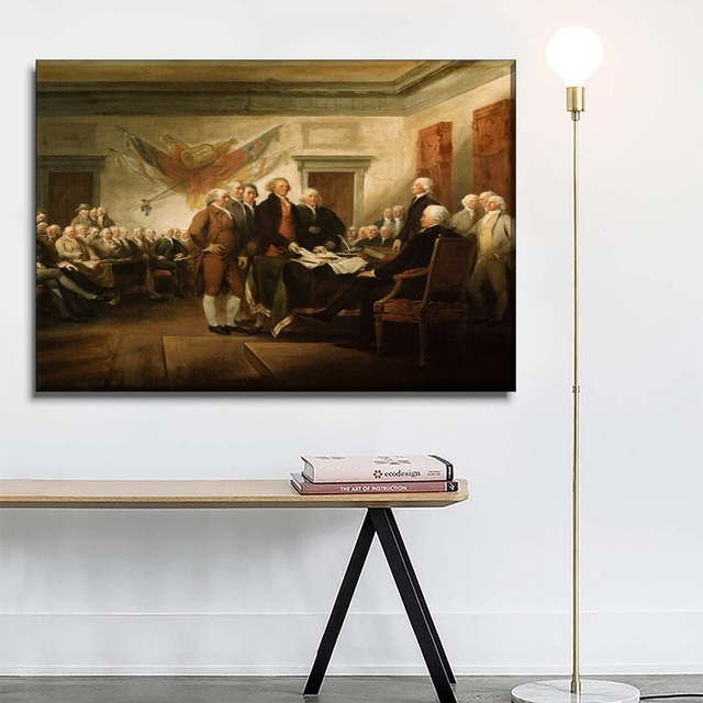 Top-Rated Canvas Print Memorial Poster Home Decorative Living Room Wall Art 1 Piece Country Founding Classic Character Picture
