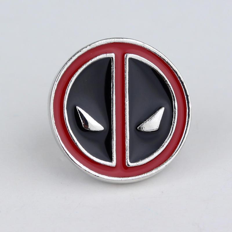 deadpool pins face enamel brooches cartoon anime brooch badge mini marvel mask lapel metal