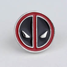 Kartun Anime Deadpool Bros Deadpool Masker Wajah Lencana Bros Merah Hitam Enamel Pin Kerah Pin(China)