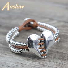 Anslow Top Quality Fashion Jewelry Accessories Vintage Heart Beads Bracelet For