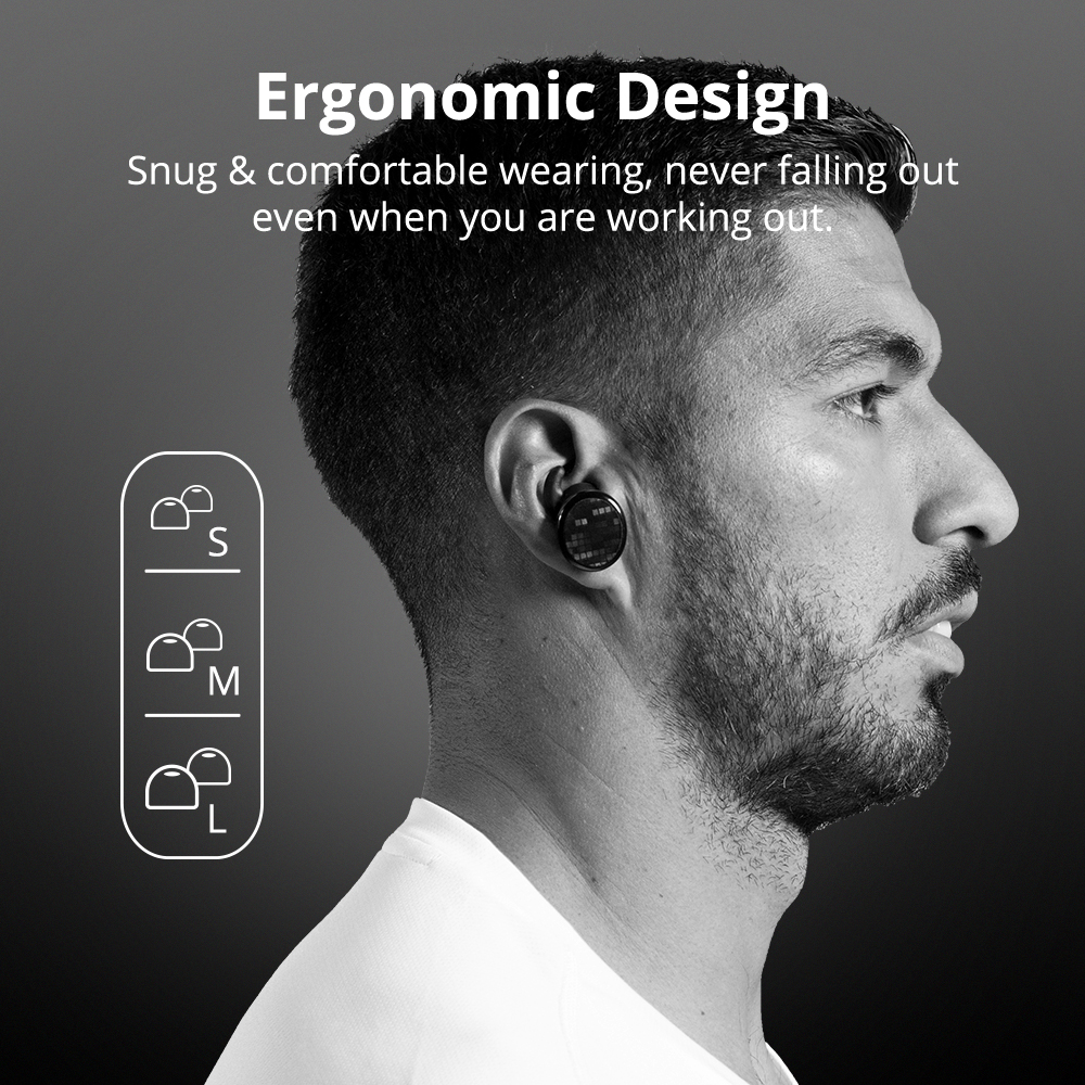 Tronsmart Spunky Buds Wireless Headphones Bluetooth 5.0 True Wireless Stereo Earbuds IPX5 Headphones with Mic for Phones 6