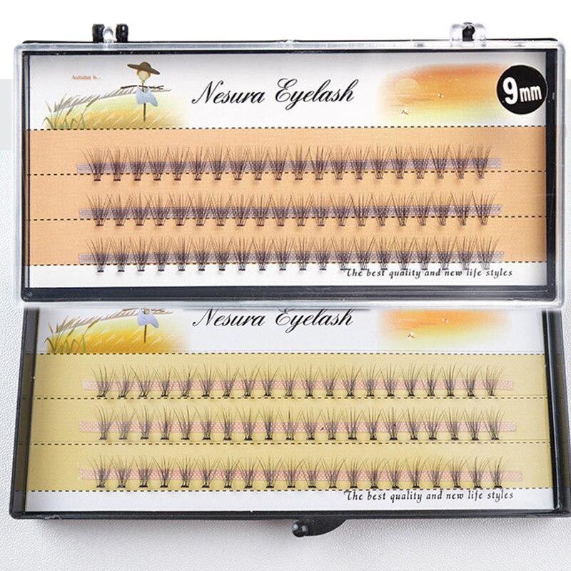 10D Grafting False Individual Eyelash Extensions Clusters C Curl Volume Individual Eyelashes Pre Made Fans