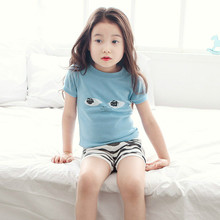 2017 girls clothes summer Pajamas for girl clothing sets cotton 2-6 years pajama set Toddler girl children costume