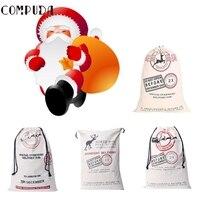 EV 3 High Quality Hot Selling Drop Shipping Large Canvas Merry Christmas Santa Sack Xmas Stocking