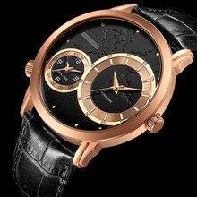 CRRJU Militar Marca de Lujo Relojes Hombres de Negocios Relojes de Cuarzo-Reloj Hombre Deportivo de Cuero Reloj Analógico Ejército Relogios masculino
