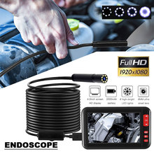 Endoscope Ear Spoon Borescope F200 8mm Monitoring Inspection Photos 1080p 4.3 Inch Waterproof Microscope Real-Time Video купить дешево онлайн