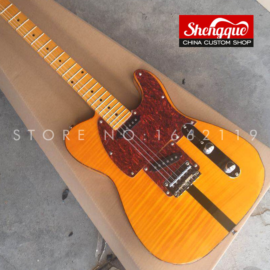 buy shengque factory custom tele electric guitar strings through body 6 strings. Black Bedroom Furniture Sets. Home Design Ideas