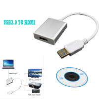 Cable HDMI de Alta Calidad Portable USB 3.0 Macho A HDMI Female Video Cable Adaptador Convertidor Para PC Portátil TVAD 1080 P Dec19