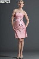 Элегантный бретелек Оболочка розовым Формальные Свадебная вечеринка платье подружки невесты