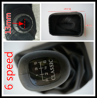 FAST Shipping 6 Speed Car Shift Gear Knobs With Gaitor For Mercedes Benz W202 C Class