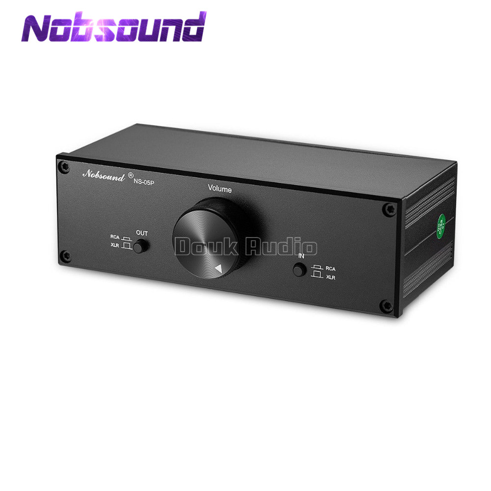 Nobsound NS 05P Fully Balanced Passive Preamplifier Pre Amp XLR RCA Volume Controller For Active Speakers