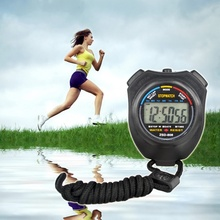 Digital Stopwatch Timer/Stopwatch/Sport Chronograph Counter Professional Handheld Digital LCD Wristwatch with Strap