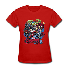 Marvel Avengers Assemblage T Shirt Women Prevailing O Neck Pure Cotton Womens Top T-shirts Classic Infinity War Heros