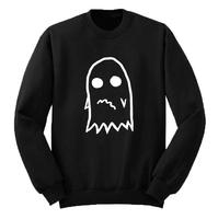 Anxious Ghost Sweatshirt Pullover Anxiety Ghost Crewneck Hoodies Men Tops Streetwear Hip Hop Mens Clothing