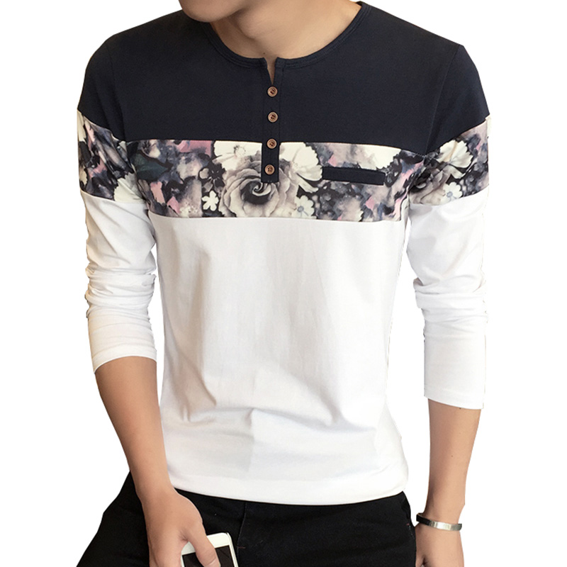 Men T Shirt Homme New Design Fashion Flower Print Men's T