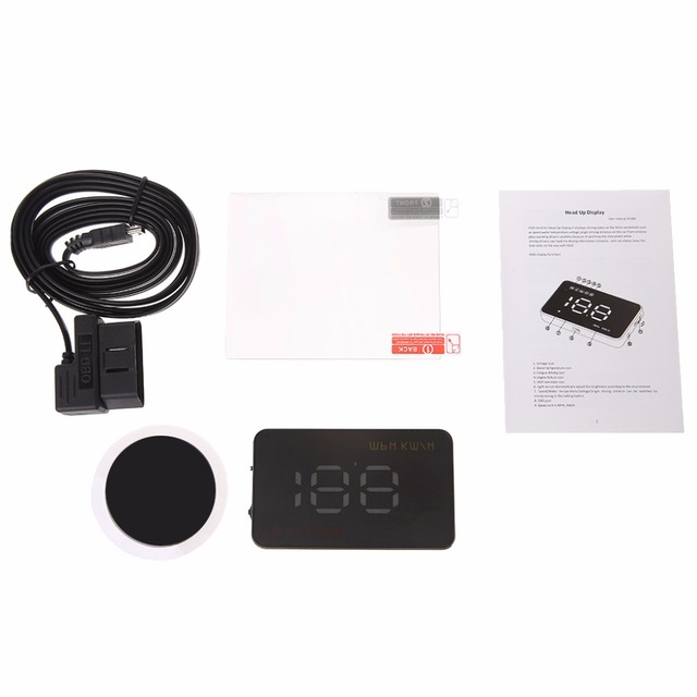 1 Conjunto Velocímetro Do Carro Auto Car HUD Head Up Display Digital Brisa Projeto Velocímetro Over-speed Alarme Alarme de Tensão A1000