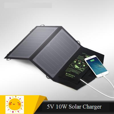 Solar charger 10W Sunpower high effencicy solar cell panel Mobile phone charger for Iphone Ipad Xiaomi