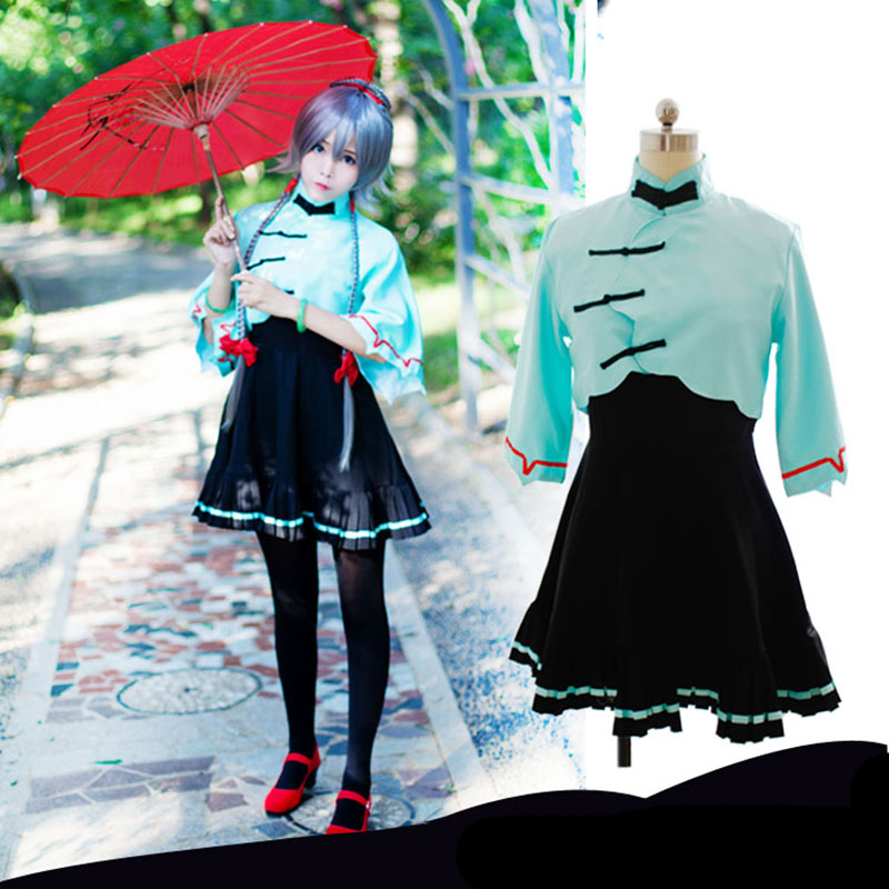 Vocaloid China March Rain Luo Tianyi Vocaloid Cosplay Costumes Animation Nichijou Lovely Hansenne Women's Dress Clothing nichijou 5