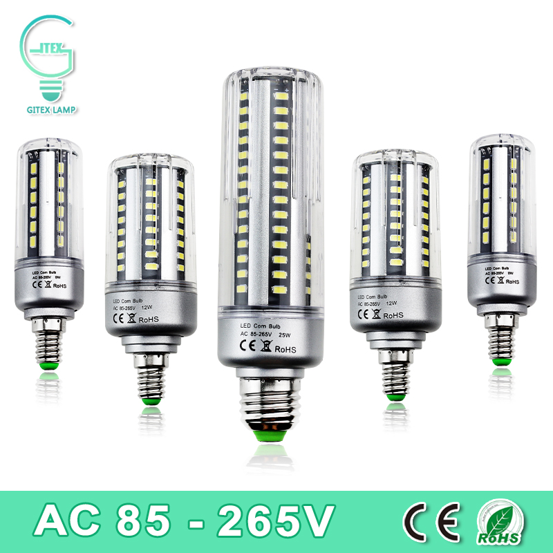 5736SMD LED Corn Light Bulb E27 E14 LED 5W 7W 9W 12W 15W 20W 25W LED Lamp Bulb 85-265V Energy Saving Light 360 Degree No Flicker