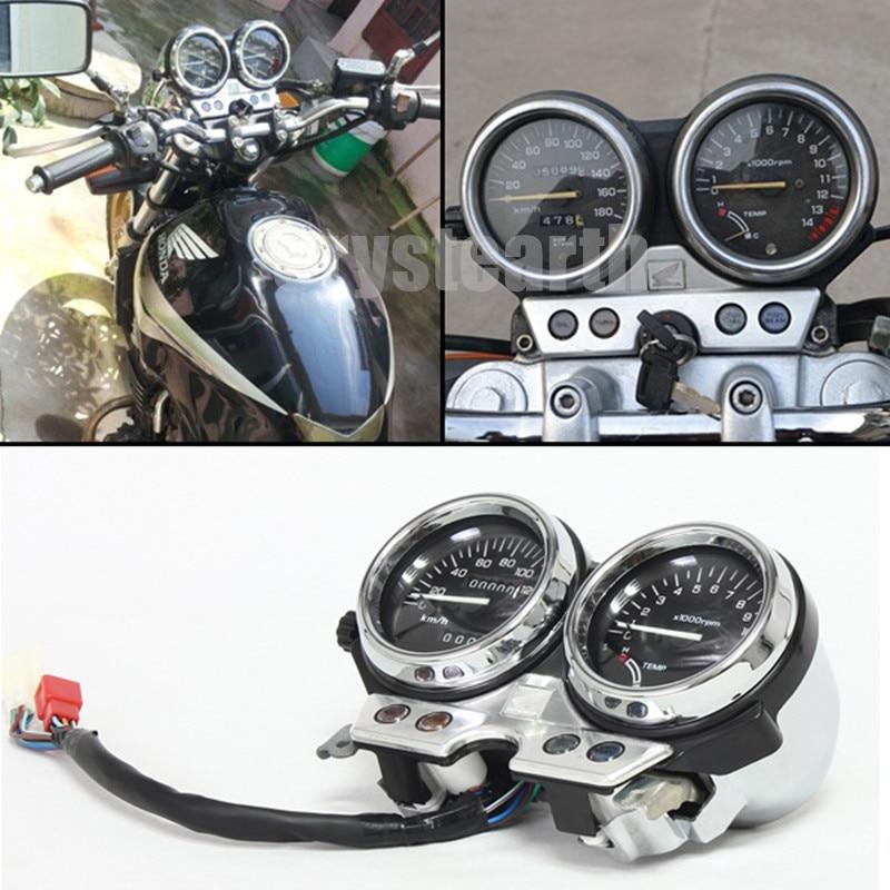 Мотоцикл одометр спидометр тахометр датчики кластера приборов в сборе для Honda cb400 и CB 400 1992 1993 1994