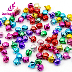 Lucia crafts 144pcs 8mm christmas Mix Colors Loose Beads Small Jingle Bells Christmas Decoration Gift Wholesale H0108