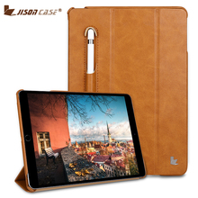 Jisoncase Luxury Microfiber Smart Cover for iPad 9.7 Flip Folio Tablet Case with Pencil Slot inch 2018 Released
