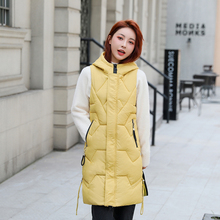 winter jacket women vest slim hooded coat parkas mujer moda invierno for