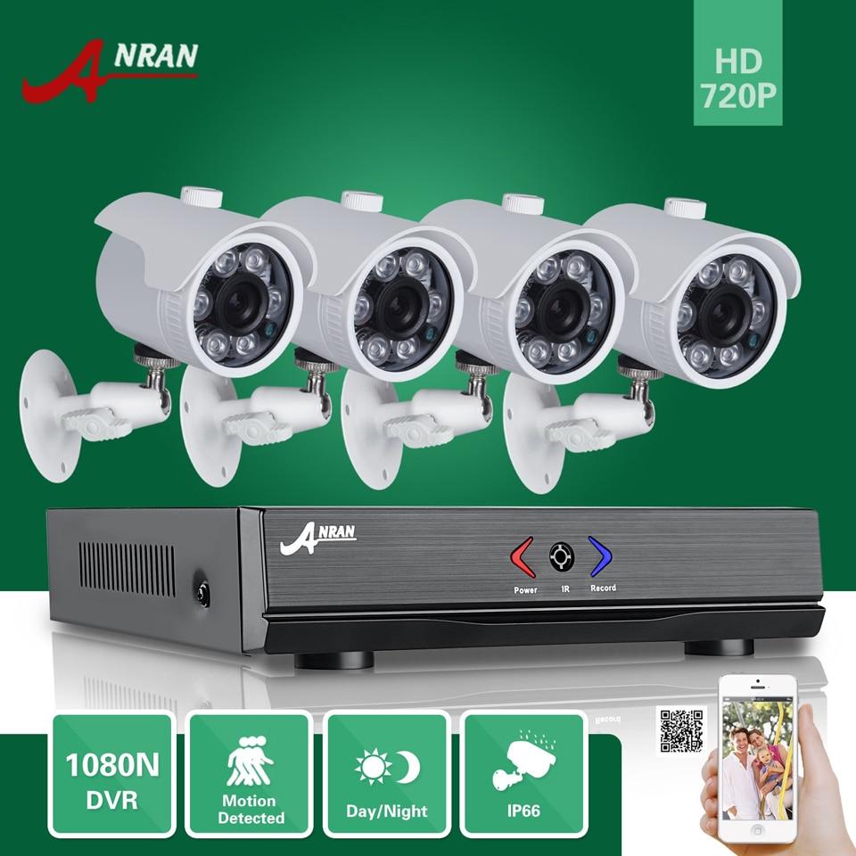 ANRAN 4CH 1080N AHD DVR HD 6 IR Day Night 720P 1800TVL Outdoor Waterproof Camera CCTV