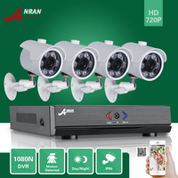 ANRAN 4CH 1080N AHD DVR HD 6 IR Day Night 720P 1800TVL Outdoor Waterproof Camera CCTV