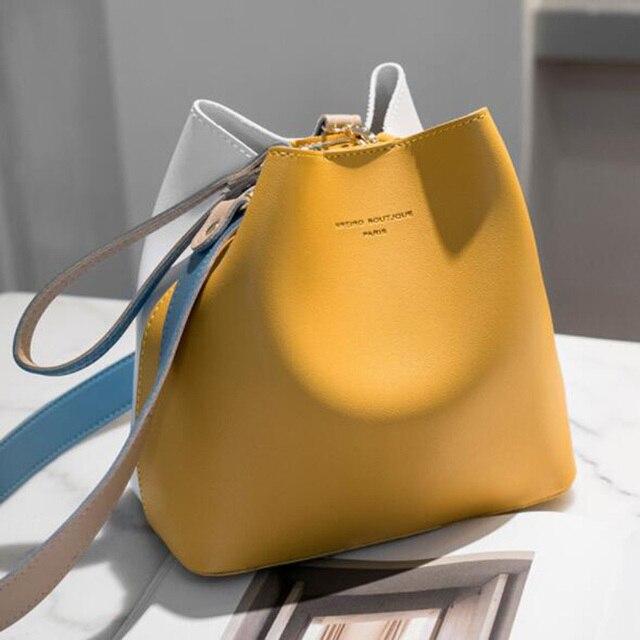 2021  Summer PU Leather  Bucket Bag  1