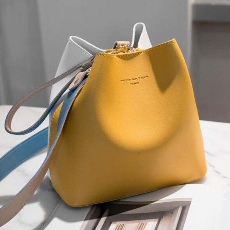 2019 Fashion Women Bag Summer Bucket Bag Women PU Leather Shoulder Bags Brand Designer Ladies Crossbody Messenger Bags Totes Sac