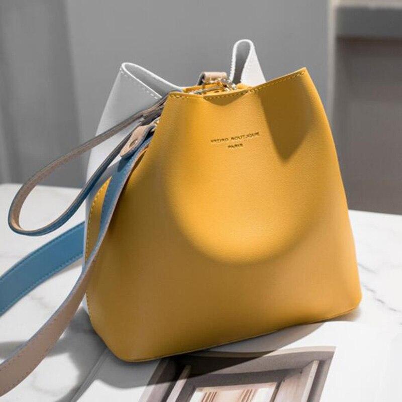 2019 mode femmes Sac été seau Sac femmes PU cuir sacs à bandoulière marque concepteur dames bandoulière sacs fourre-tout Sac