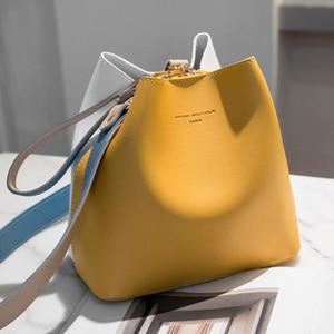 Image 1 - 2020 Fashion Women Bag Summer Bucket Bag Women PU Leather Shoulder Bags Brand Designer Ladies Crossbody Messenger Bags Totes Sac