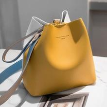 2020 moda kadın çanta yaz kova çanta kadın PU deri omuz çantaları marka tasarımcısı bayanlar çapraz postacı çantası tote Sac