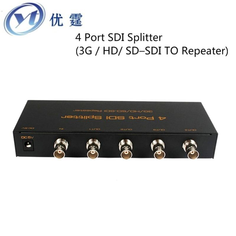все цены на  4 Port SDI Splitter 1X4 SDI Distribution Amplifier 3G  HD SD SDI TO Repeater 1080p60hz RG-6/75-5 Coaxial line100m  онлайн