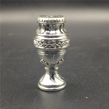 Soccerwe Mini Soccer Champion Copa America Trophy Resin 5 cm Height Big Ear Trophy Silver Color Delicate Collections trophy
