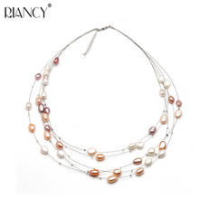 Fashion Freshwater Multilayer choker pearl necklace woman,wedding fashion natural pearl necklace girls engagement jewelry цена